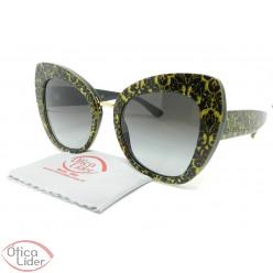 Dolce & Gabbana DG4319 3214/8g 51 Damasco Glitter Preto / Dourado