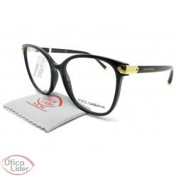 Dolce & Gabbana DG5035 501 55 Acetato Preto / Dourado
