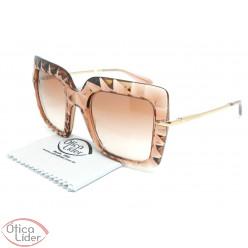 aac9832f4e18e Dolce   Gabbana DG6111 3148 13 51 Acetato Rosa Transparente   Dourado
