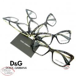 Dolce & Gabbana DG5025 504 53 Acetato Cinza Cristal / Metal Dourado