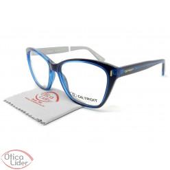 Detroit Kenia DT485 54 Acetato Azul Transparente / Cinza