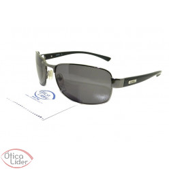 Óculos London LO 102 63 Metal Chumbo / Acetato Preto
