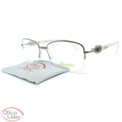 London LO2894 col LP 52 fny Metal Rosado / Acetato Branco
