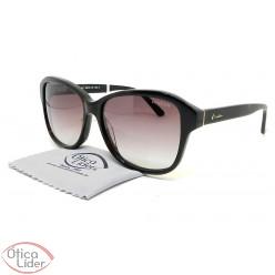 Óculos London LO L627 col.b 55 Acetato Preto Tartaruga
