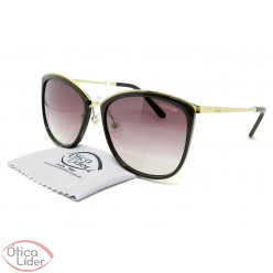 Óculos London LO L632 col.b 58 Acetato Marrom / Metal Dourado