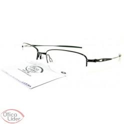 Óculos de Grau Oakley OX3133 0253 53 fny Polished Metal Preto