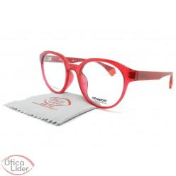 Polaroid PLD d357 8cq 51 Acetato Vermelho Transparente