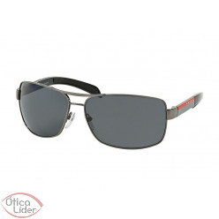 Prada PS 54is 5av 5z1 65 Linea Rossa Polarizado Metal Chumbo / Preto