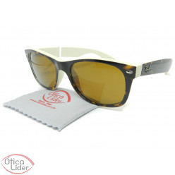 Ray-Ban RB2132 6012 52 New Wayfarer Acetato Demi / Creme