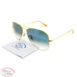 Ray-Ban RB3025l 001 3f 58 Aviador Metal Dourado Lente Azul Degradê be266c4e3e