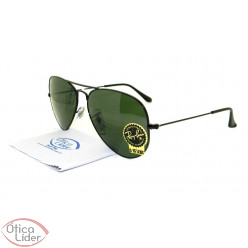 Ray-Ban RB3025l l2823 58 Aviador Metal Preto G15