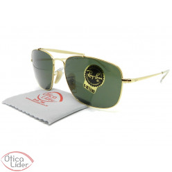 Ray-Ban The Colonel RB3560 001 58 Metal Dourado Lente Verde G15