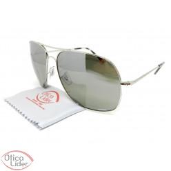 2db5b93738f Ray-Ban RB3587ch 003 5j 61 Chromance Metal Prata Espelhado Polarizado