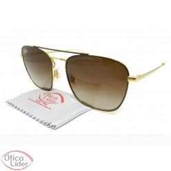 Óculos de Sol Ray-Ban RB3588 9055/13 55 Metal Marrom / Dourado