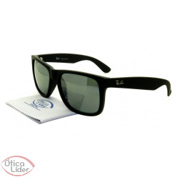 Óculos de Sol RAY-BAN JUSTIN RB4165L 622/6G 55 Preto Semi-Espelhado