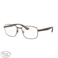 Ray-Ban RX6423 2511 55 Metal Bronze / Acetato Marrom