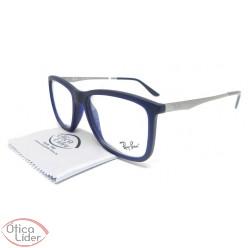 Ray-Ban RX7061l 5451 54 Acetato Azul / Metal Prata