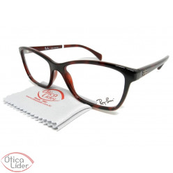 Ray-Ban RX7108l 5695 53 Acetato Bordô Mesclado
