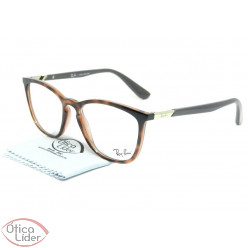 Ray-Ban RX7136l 5741 52 Acetato Mesclado / Marrom