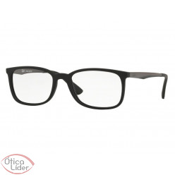 Ray-Ban RX7154l 5826 54 Acetato Preto / Metal Grafite