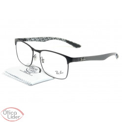 Ray-Ban RB 8416 2503 55 Metal / Fibra de Carbono Preto