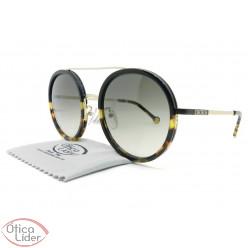 Carolina Herrera SHE121 col.0302 52 Acetato Preto / Metal Dourado