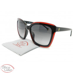 Carolina Herrera SHE788 col.01cp 55 Acetato Preto / Vermelho
