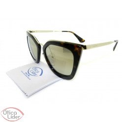 Prada SPR53s 2au 6o0 52 Cinema Evolution Acetato Demi / Metal Dourado