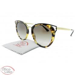 Prada SPR66t 7s0 0a7 54 Acetato Havana / Metal Dourado