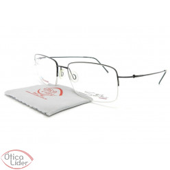 Óculos de Grau Sottile STL103 c3 54 fny Titanium Preto