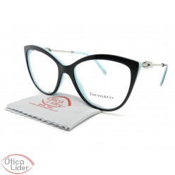 Tiffany & Co. TF2161-B 8055 54 Gatinho Preto e Azul / Metal Prata