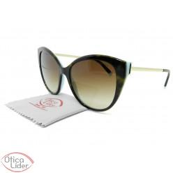 Tiffany & Co. TF4166 8134/3b 55 Acetato Havana e Azul / Metal Dourado