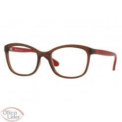 Tecnol TN3050 f689 52 Acetato Marrom Transparente / Vermelho