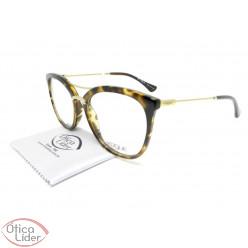 Vogue VO5156l w656 53 Acetato Havana / Metal Dourado