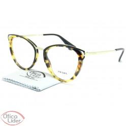Óculos Prada VPR53u 7s0 1o1 52 Gatinho Acetato Mesclado / Metal Dourado