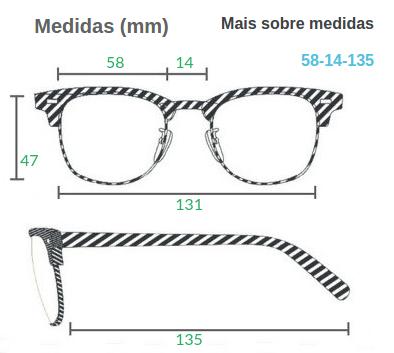 Normalmente dizemos se um óculos é pequeno, médio ou grande pela medida de  largura, que representa o tamanho da lente de um óculos. 4e2fcf7c9b